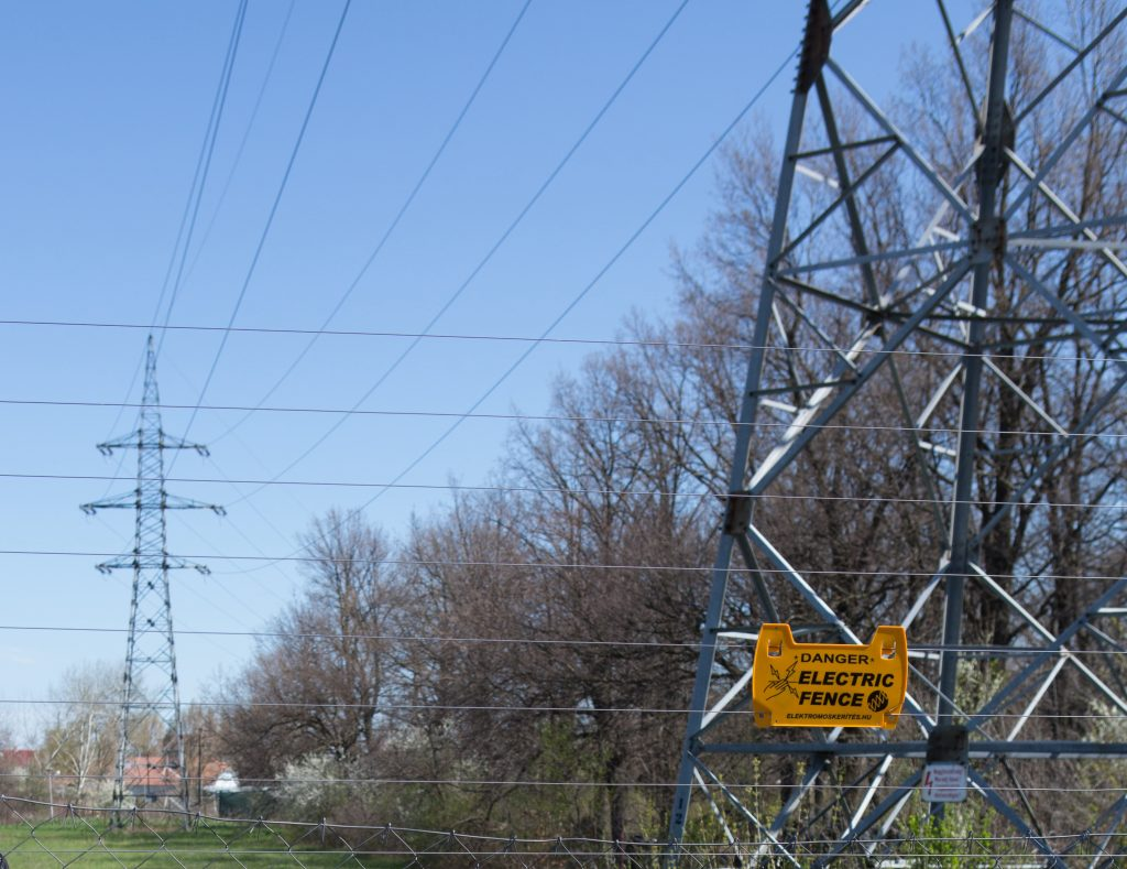 elektromos kerítés légkábel